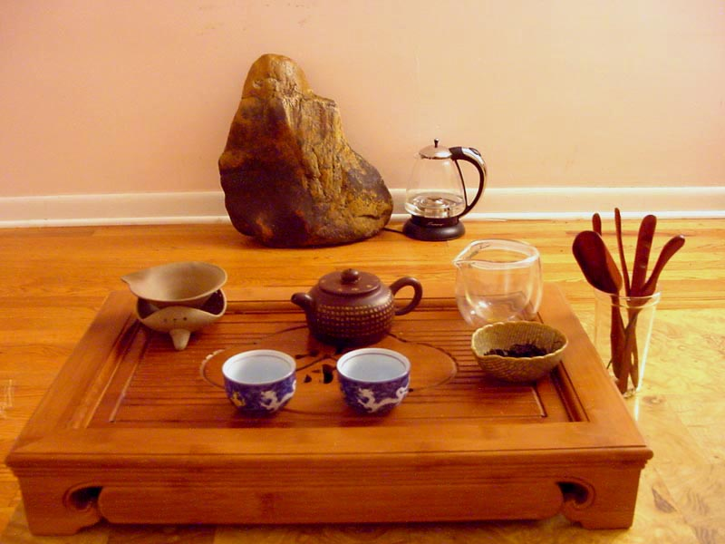 gonf fu brewing tea set